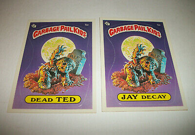 Garbage Pail Kids GPK 1980's Lot Series 1 DEAD TED JAY DECAY