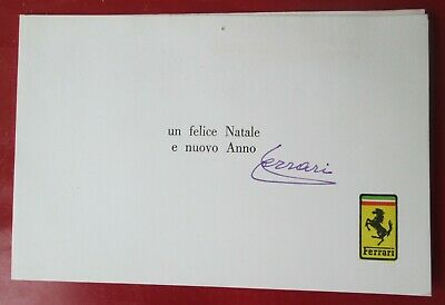 1973 Autografo Enzo Ferrari Hand Made Autograph Greeting Card Peter Coltrin