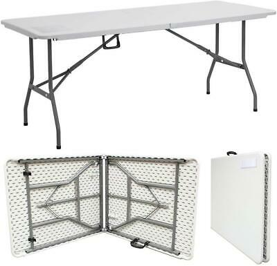 6Ft Folding Collapsible Portable Pop Up Table Trestle Picnic Party Bbq Christmas