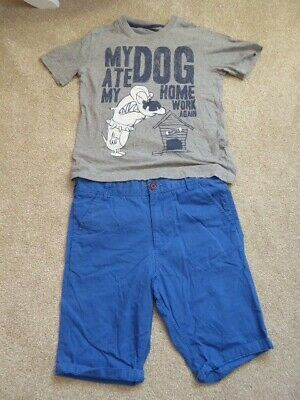 Boys Next and M&S Blue Shorts and Grey Top Bundle Age 11-12 years