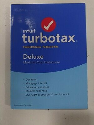 Intuit TurboTax Deluxe 2019 Federal State Efile for Windows and Mac