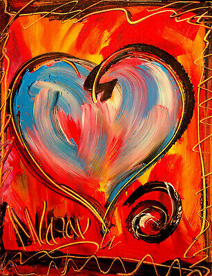 HEARTS COLORS  Abstract Oil Painting Original Canvas Wall Decor  CANADA