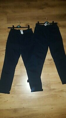 Boys Chino Trousers X 2 Ages 10 - 11 Years Brand New With Tags