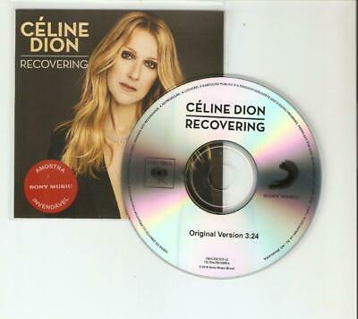 """Celine Dion """"Recovering"""" New Brazilian Official Sony Cd Promo"""