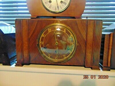 art deco antique  mantel/mantle clock (6)