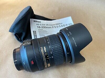 Nikon NIKKOR AF-S DX VR 18-200mm f3.5-5.6G IF-ED Zoom Lens Excellent Cond