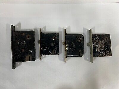 "Lot ""4"" Vintage Antique Corbin RHC & Other Mortise Door Latch Lock Part (A12)"