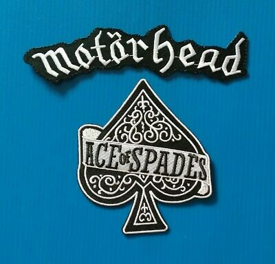 2 LOT Embroidered Easy Sew/Iron On MOTORHEAD Patches W/FREE SHIPPING