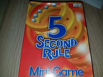 (141) University Games 5 Second Rule mini Board Game