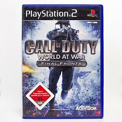 Sony Playstation 2 Spiel für PS2 I Call of Duty World at War-Final Fronts I PAL