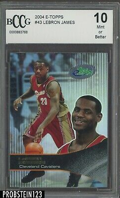 2003-04 E-Topps #43 LeBron James Cavaliers RC Rookie BCCG 10
