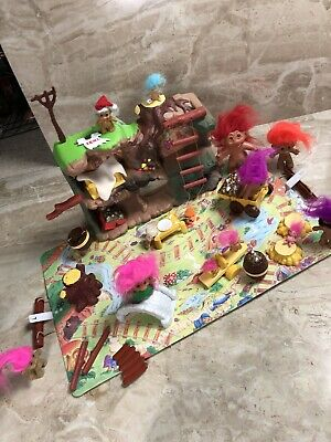 Vintage 1992 TROLL DOLL TRAVELLING PLAYSET PLAY SET ACCESSORIES Trolls Toys