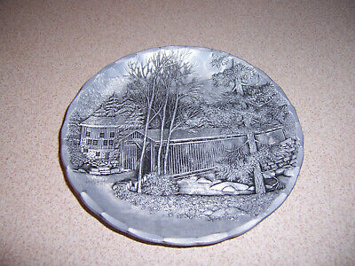 Wendell August Forge McConnels Mill Covered Bridge Aluminum Coaster
