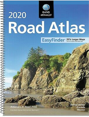 Rand Mcnally USA Road Atlas 2020 BEST Large Scale Travel Maps United States NEW