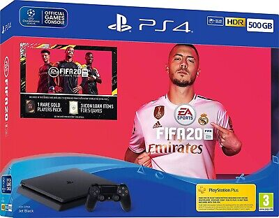 Ps4 Slim 500Gb Includes Fifa 20 Physical Game Fifa20 Sealed Brand New Uk Stock