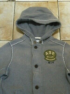 """ABERCROMBIE & FITCH Muscle Zip & Button Warm Sweater Hoodie Jacket Chest 38"""""""