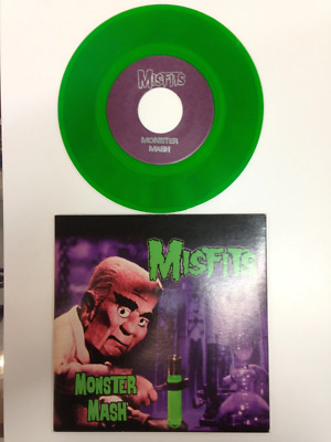"""Misfits Monster Mash Green Signed By Jerry Only 7"""""""