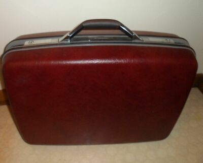 Vintage Wineberry Samsonite Luggage Silhouette Suitcase Hard Shell Air Travel