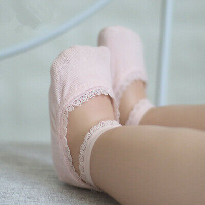 Invisible Non-Slip Ankle Sock Girls Infant Baby Cotton Low Cut Lace Sock 0-8Y