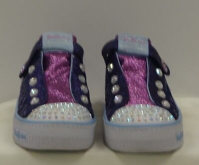 TWINKLE TOES by SKECHERS Girls Pink Purple Rhinestone Limited Edition Shoes - 3