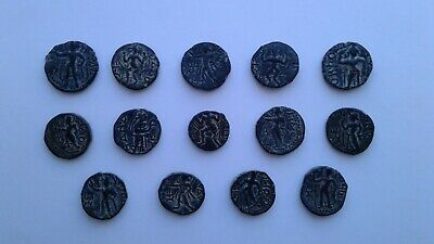 Lot 14 Kushan coins from Pakistan hoard. Excellent condition! Uncleaned!!!