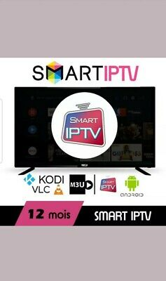 Smart Iptv & Smarters 12 mois Live HD FullHD M3U Android IOS Sports Activation