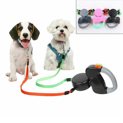 Heavy Duty Large Dog Puppy Extendable Retractable Lead Set 5M Up To 50KG Dogs UK
