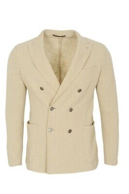 Eleventy Blazer Men's 50 SALE !! Beige Slim Fit Piqué Cotton