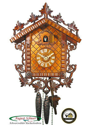 Cuckoo Clock German Authentic 1885 Train Station 1-Day By August Schwer New