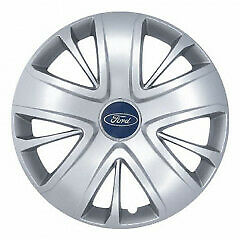 """Set X4 Wheel Trims Hub Caps To Fit Ford Transit Connect Custom 16"""" Silver 428"""