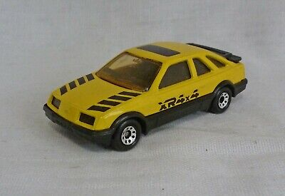 Matchbox Superfast MB55 Ford Sierra XR4i Yellow with Pale Amber Windows