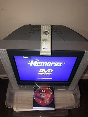 """Memorex Color Television TV DVD Combo Player 14"""" inch Gaming +Remote Works"""