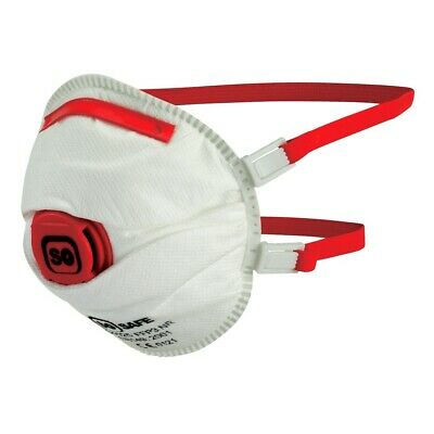 Flu Virus Face Mask FFP3 Valved Safety Coronavirus Bacteria Breathing Respirator