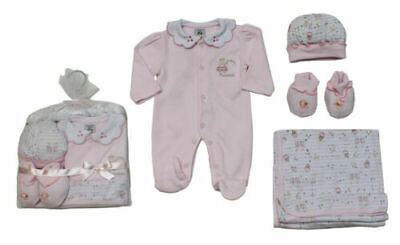 Baby girls 4 piece Princess layette blanket & outfit gift set 0-3 months BNWT