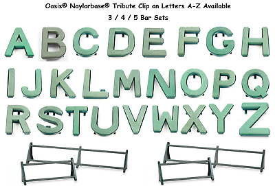 Oasis® Clip On Funeral Tribute Name Foam Letters Naylorbase® All Letters and Bar