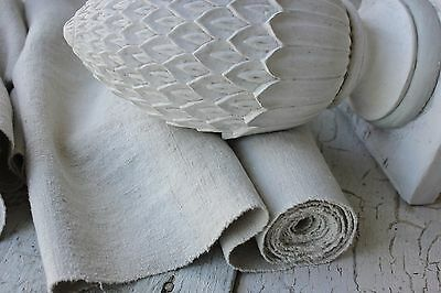 Antique WASHED LINEN soft heavy upholstery fabric 4 yards organic material
