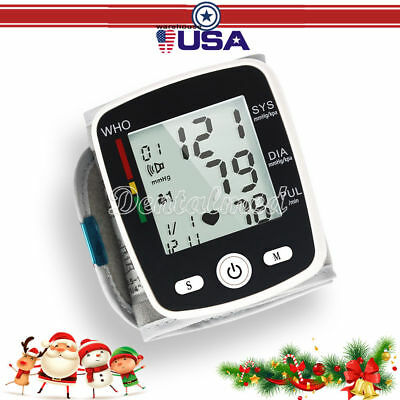 Wrist Blood Pressure Monitor Heart Beat Meter with Voice Medical Home
