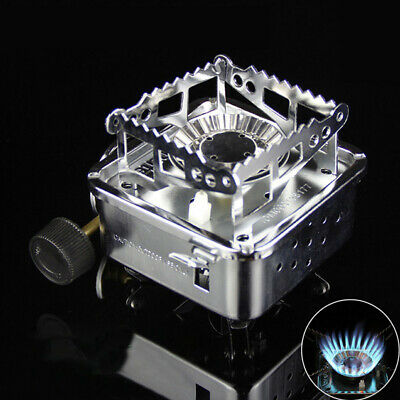 Am_ Mini Portable Outdoor Camping Picnic Folding Windproof Barbecue Gas Stove