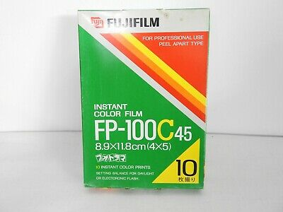 【NEW】 Fuji FujiFilm FP-100C45 4x5 Instant Color film From JAPAN #1327