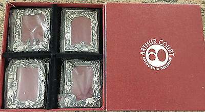 New in Box! 1990 Arthur Court 4 Petite Frames! Elephants, Safari, Cats & Bunnies