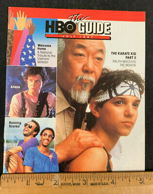 1987 July *Karate Kid Part Ii* Hbo Home Box Office Movie Guide Booklet (As)