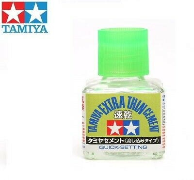 40ml TAMIYA EXTRA THIN QUICK SETTING CEMENT ADHESIVE/GLUE for Model Kits #87182