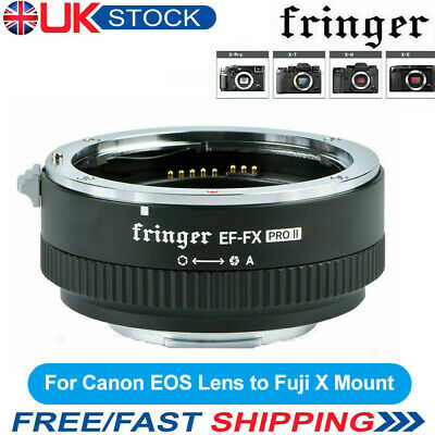 Fringer EF-FX2 Pro II Auto Focus Lens Adapter for Canon EOS EF/EF-S for Fuji UK