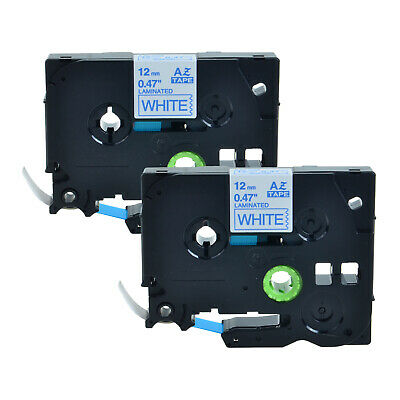 High Quality 3PK Blue on White TZe TZ 233 Label Tape for Brother P-Touch 0.47/'/'