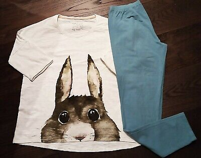 NEXT Girl's Rabbit Pyjamas AGE 16 YEARS - Teal