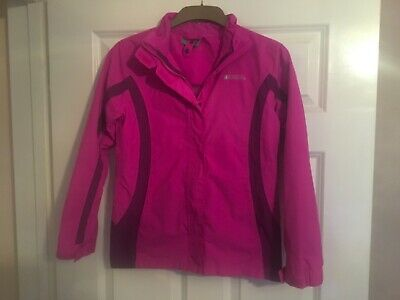 Pink Mountain Warehouse Girls Outdoor Jacket Size 11-12 Years Vgc