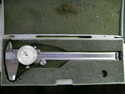 """6/"""" Premium Extra Smooth Dial Caliper .001/"""" Increments Chicago Brand #50004-N"""