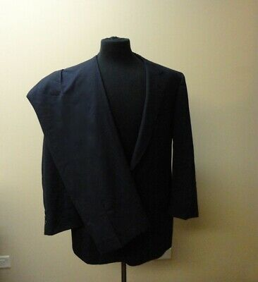 BROOKS BROTHERS Blue Checked Wool Two Button Two Piece Pant Suit Size 42R HH4895