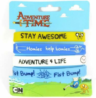 Licensed 4 x Adventure Time Awesome Homies Jake & Finn Rubber Wristbands