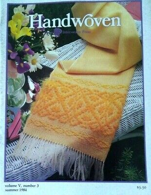 Handwoven magazine summer 1984: FINNISH LACE linen towel